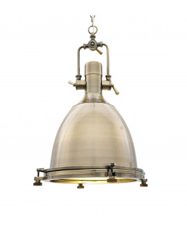 LAMPA WISZĄCA LOFT MOSIĘŻNA ALCANTARE LUMINA DECO