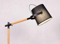 LAMPA STOJĄCA PODŁOGOWA CZARNA LAPIDUS