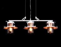 LAMPA WISZĄCA INDUSTRIALNA LOFT BIAŁA CAPRI TRIO