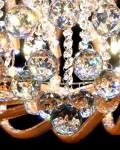 LAMPA SUFITOWA Z KRYSZTAŁAMI MAESTUS 600