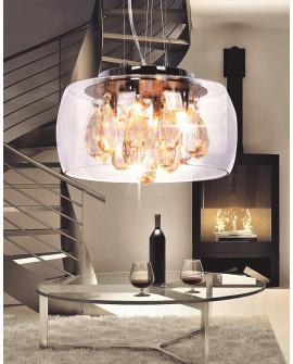 NOWOCZESNA LAMPA WISZĄCA TOSSO D30 CLEAR LUMINA DECO