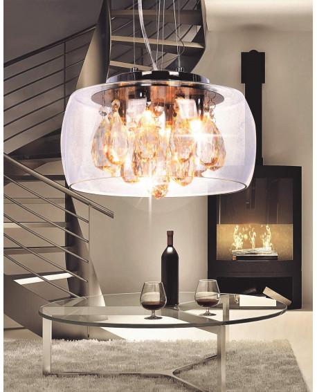 NOWOCZESNA LAMPA WISZĄCA TOSSO D30 CLEAR