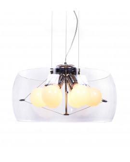 NOWOCZESNA LAMPA WISZĄCA PRZEZROCZYSTA NANO D50 LUMINA DECO