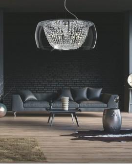 NOWOCZESNA LAMPA WISZĄCA DISPOSA CLEAR D50 LUMINA DECO