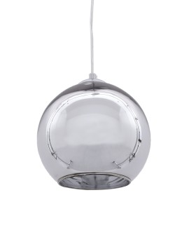 NOWOCZESNA LAMPA WISZĄCA CHROMOWANA LOBOS D30 LUMINA DECO