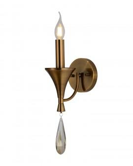 LAMPA ŚCIENNA KINKIET KLASYCZNY MOSIĘŻNY LIBERO W1 LUMINA DECO