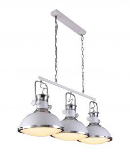 LAMPA WISZĄCA POTRÓJNA LOFT BIAŁA BATORE W3 LUMINA DECO