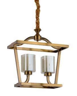 LAMPA WISZĄCA LOFT MOSIĘŻNA ATLANTA W2 LUMINA DECO