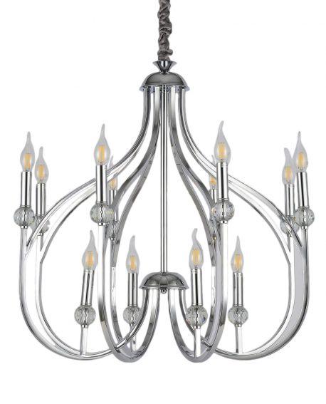 NOWOCZESNA LAMPA WISZĄCA CHROMOWANA ARCHETYPE W12