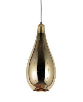 NOWOCZESNA LAMPA WISZĄCA SZKLANA ZŁOTA LAURIS LUMINA DECO