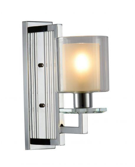 LAMPA ŚCIENNA KINKIET CHROMOWANY MANHATTAN W1 LUMINA DECO