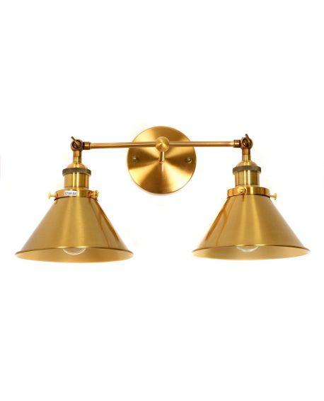 LAMPA ŚCIENNA KINKIET LOFTOWY MOSIĘŻNY GUBI DUO LUMINA DECO