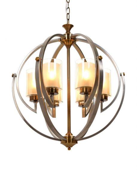 LAMPA WISZĄCA LOFT SATYNOWO-MOSIĘŻNA BERGEN W6 LUMINA DECO