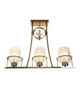 LAMPA SUFITOWA ART DECO MOSIĘŻNA BRONX W3 LUMINA DECO