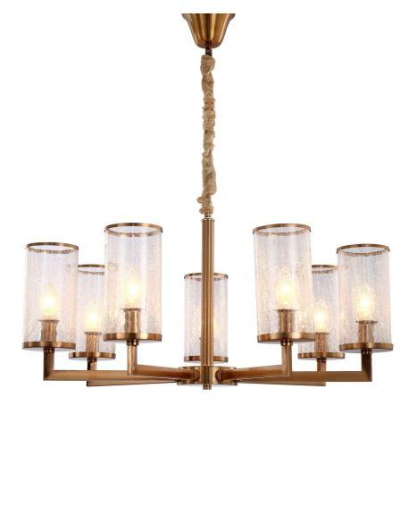 LAMPA WISZĄCA NOWOCZESNA MOSIĘŻNA HOWARD W7 LUMINA DECO