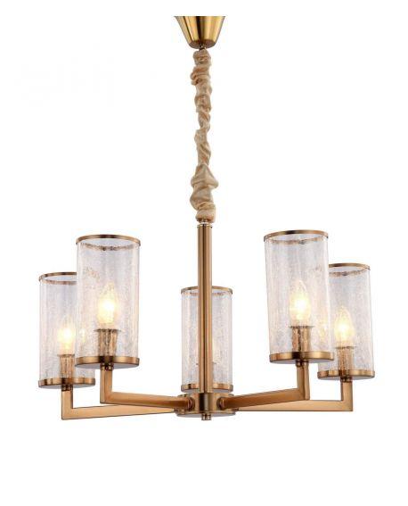 LAMPA WISZĄCA NOWOCZESNA MOSIĘŻNA HOWARD W5 LUMINA DECO