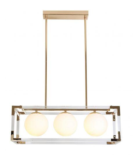 LAMPA WISZĄCA NOWOCZESNA ZŁOTA BOSCO W3 LUMINA DECO