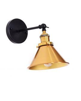 LAMPA ŚCIENNA KINKIET LOFTOWY CZARNY NORI W1 LUMINA DECO