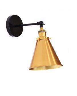 LAMPA ŚCIENNA KINKIET LOFTOWY CZARNY GORI W1 LUMINA DECO