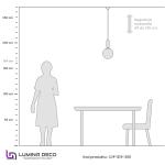 NOWOCZESNA LAMPA WISZĄCA ZŁOTA ORITO D20